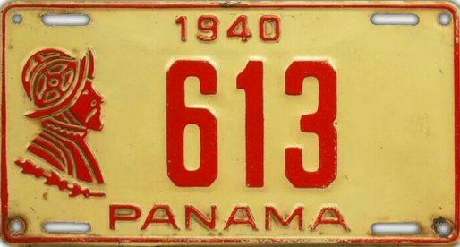 20 placas vehiculares del Panamá de ayer