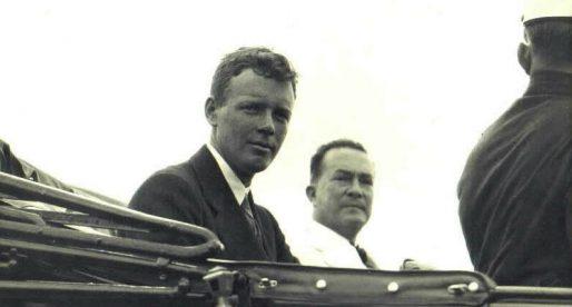 La llegada de Charles Lindbergh a Panama