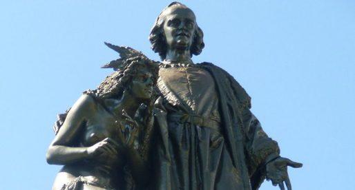 La estatua de Cristóbal Colón
