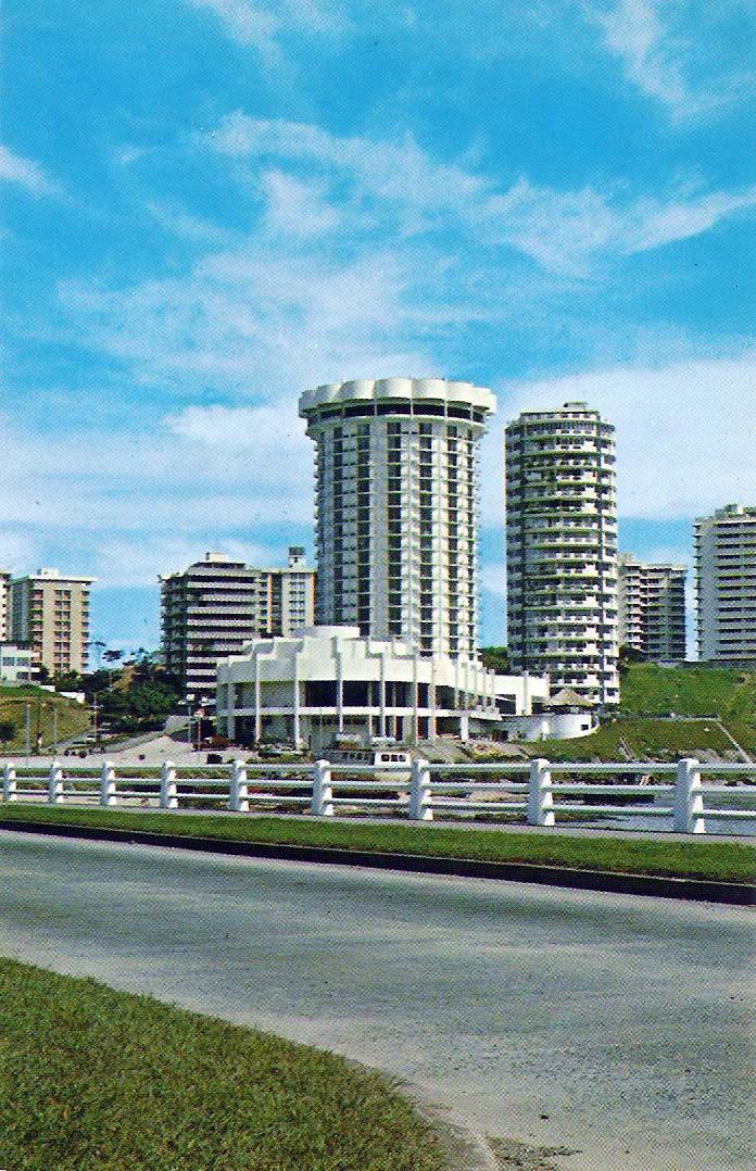Hotel Holiday Inn en los años 70 (actual Plaza Paitilla Inn).
