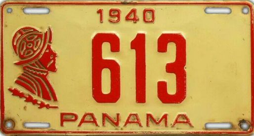 20 placas vehiculares del Panamá de ayer
