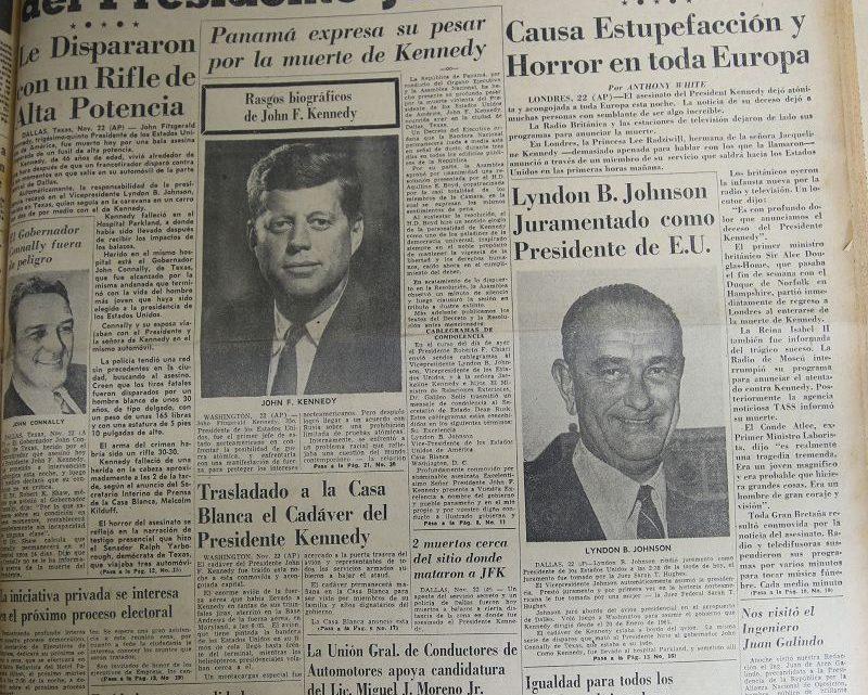 La conexión de la muerte de J.F.K. con la Gesta del 9 de enero de 1964