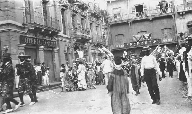 Carnavales de 1913 en Parque Catedral