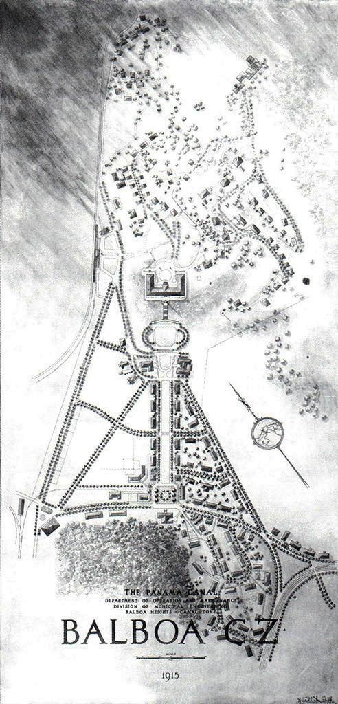 Plano del Poblado de Balboa Año 1915