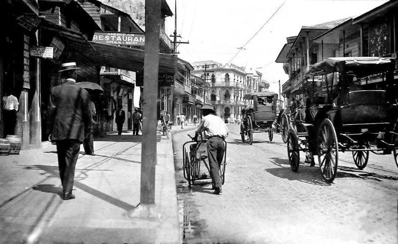 Avenida Central en 1915.