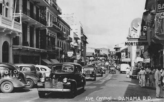 Avenida Central en 1940.