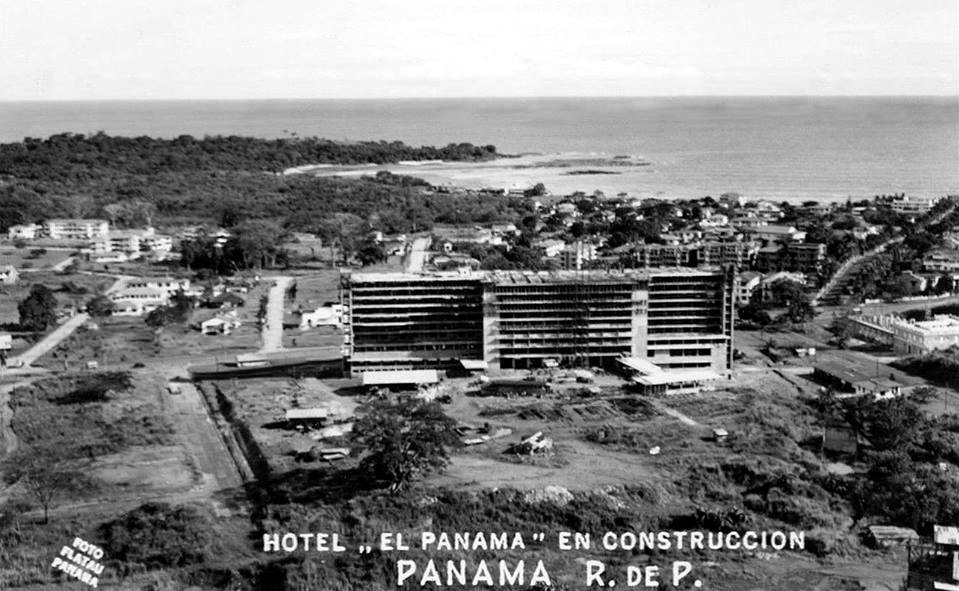 hotel panama construccion etapa final 1950