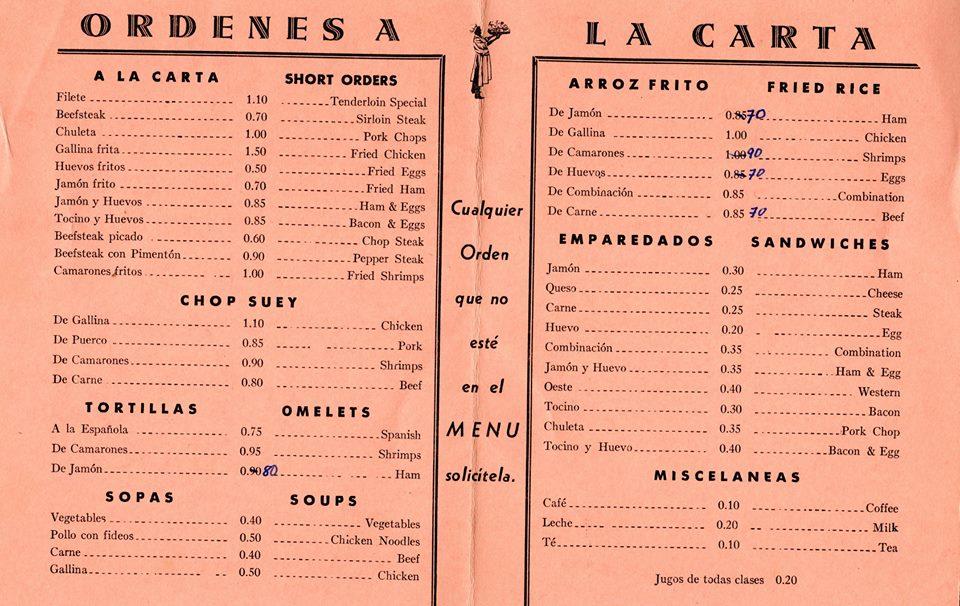 menu decada 1970