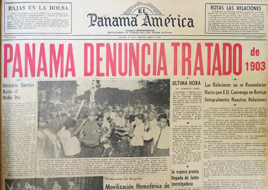 portada panama america 10 enero 1964