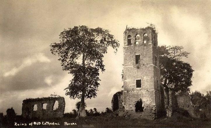 Foto-de-Panamá-la-Vieja-por-la-década-de-1930