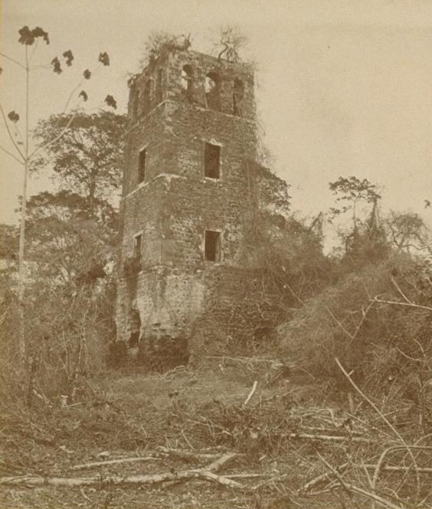 Panamá-la-Vieja-en-una-foto-de-1894