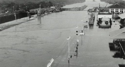 Inundación en la esclusa de Gatún