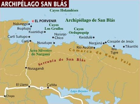 san blas mapa