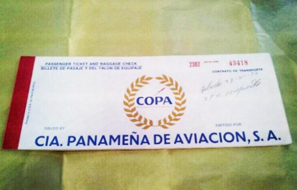 boleto vuelo copa 1975