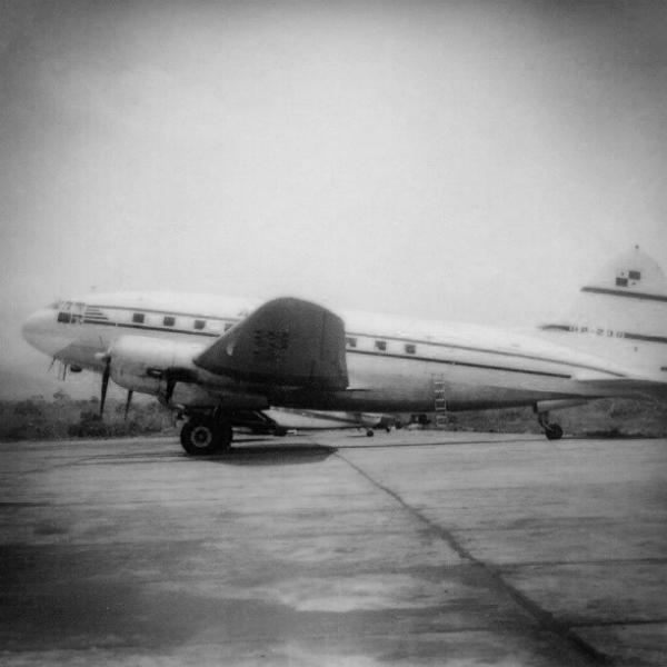curtiss c-46 usado por copa desde 1956 hasta 1958