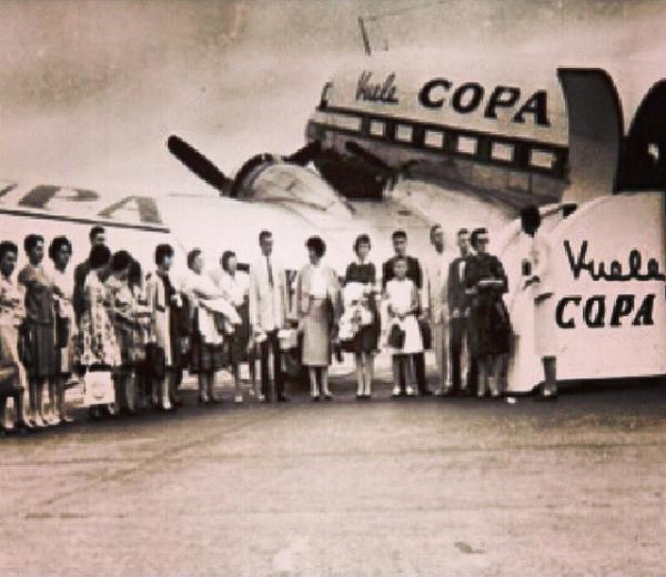 primer vuelo copa 19 mayo 1947 ruta panama david