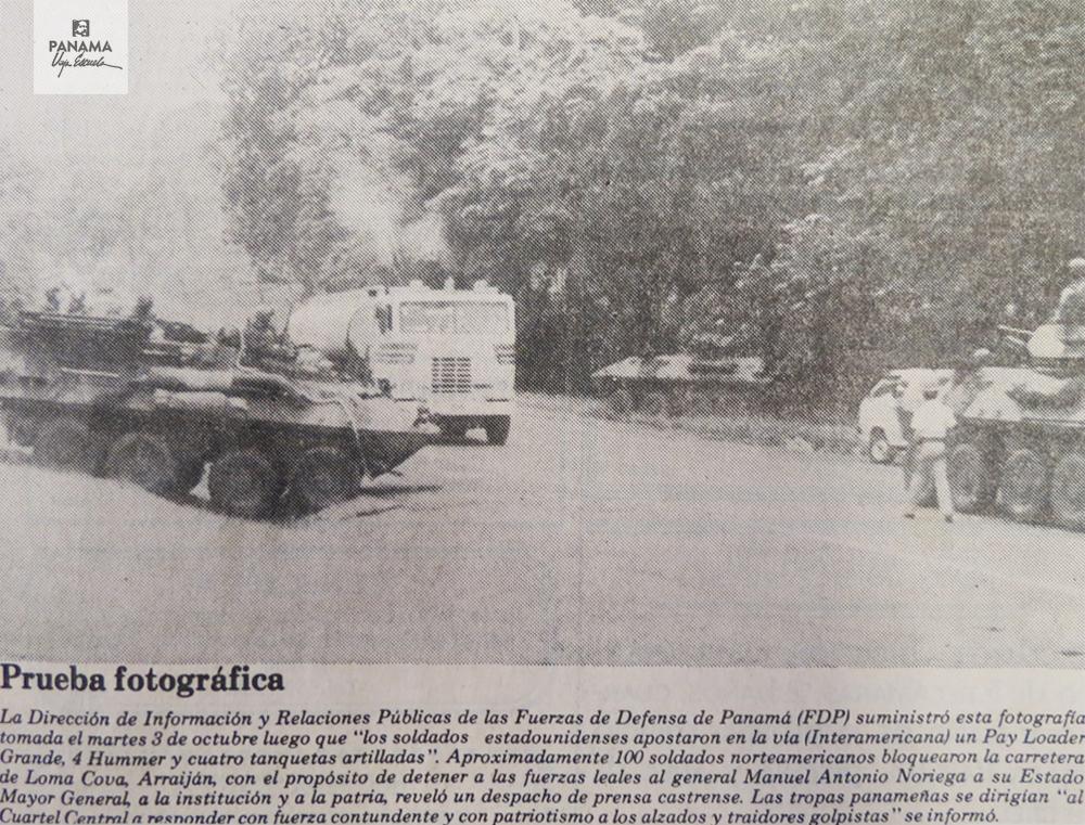soldados gringos bloqueo carretera
