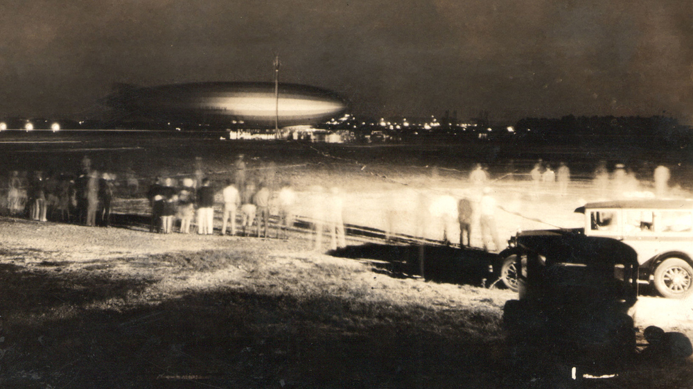 dirigible militar USS Los Angeles en el área de Albrook año 1929
