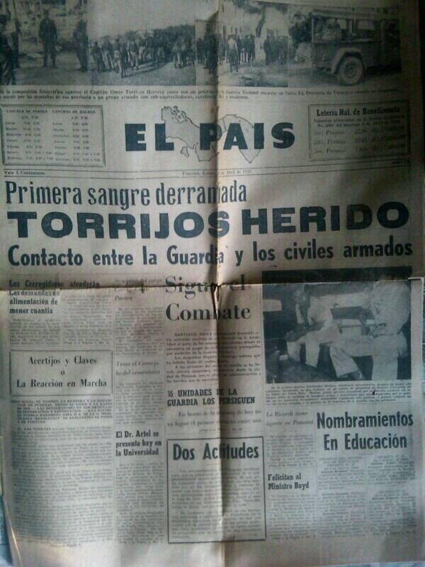 torrijos herido cerro tute abril 1959