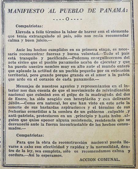 manifiesto pueblo panama