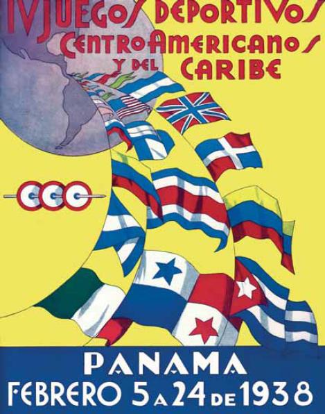 poster IV Juegos Centroamericanos y del Caribe panama 1938
