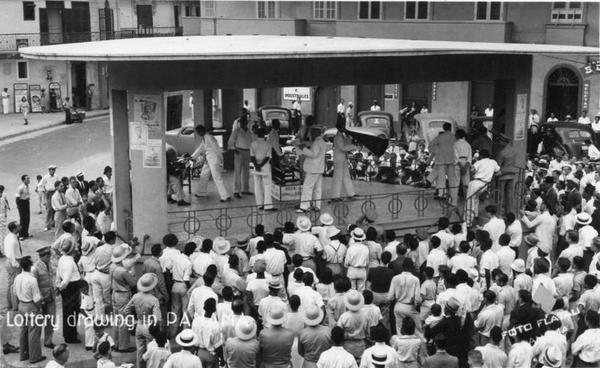 Sorteo loteria decada de 1940 Plaza Arango