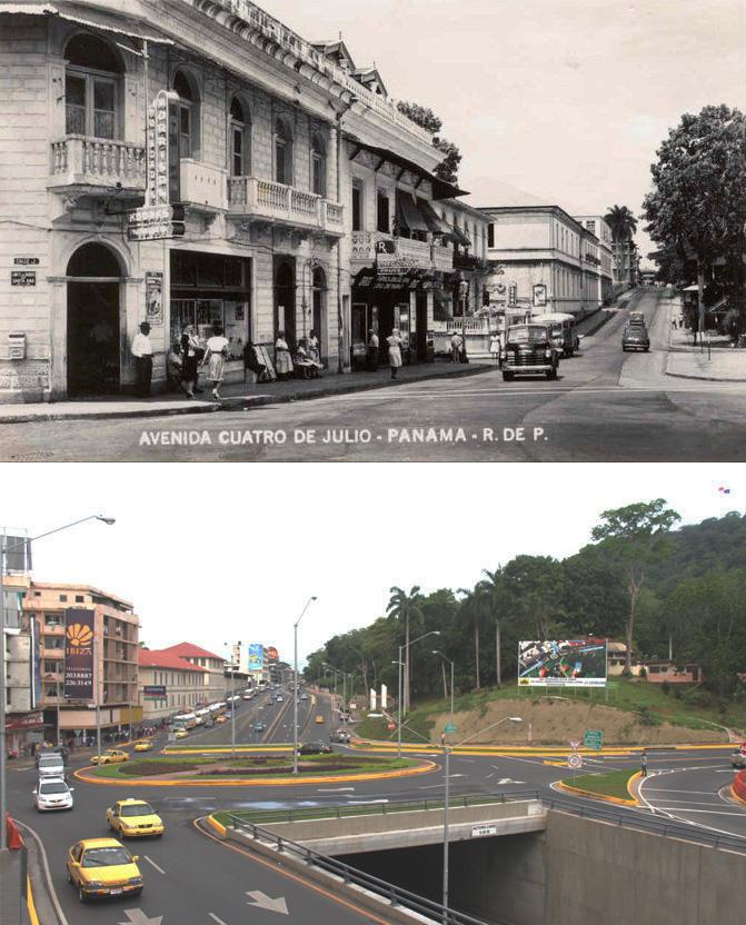 avenida 4 julio martires antes y despues