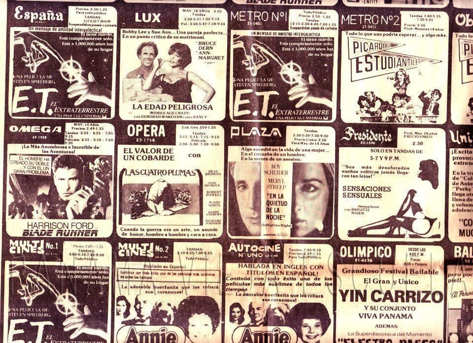 cartelera cines enero 1983