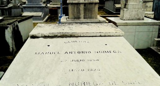 La tumba del general Manuel Antonio Noriega