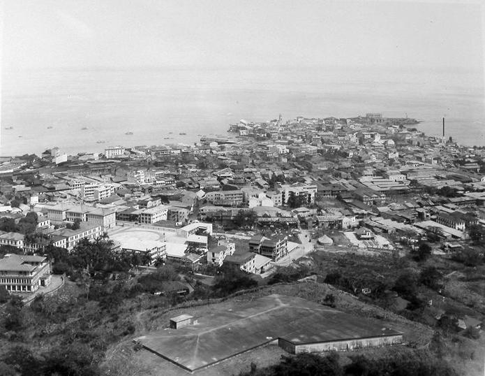 casco viejo desde el cerro ancon en febrero de 1933