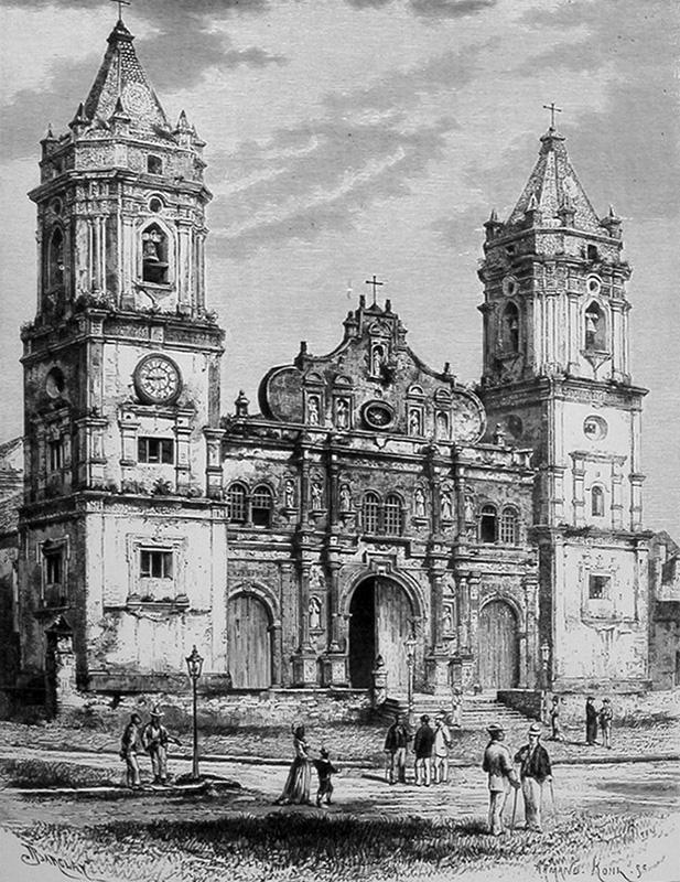 dibujo antiguo catedral