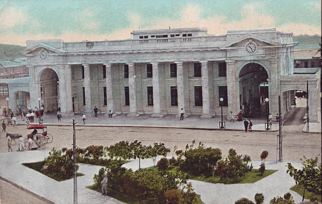 estación de ferrocarril de Panamá, año 1910