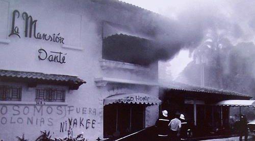 El incendio de la Mansión Danté