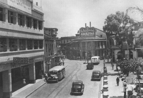 Avenida central y Santa Ana 1940