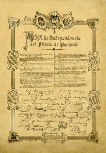 acta de independiencia del istmo de panama,1821