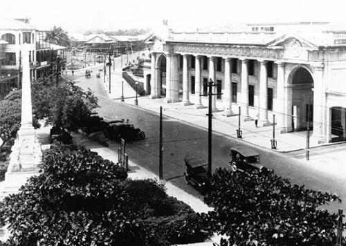 ciudad de panama - estacion ferrocarril 1922