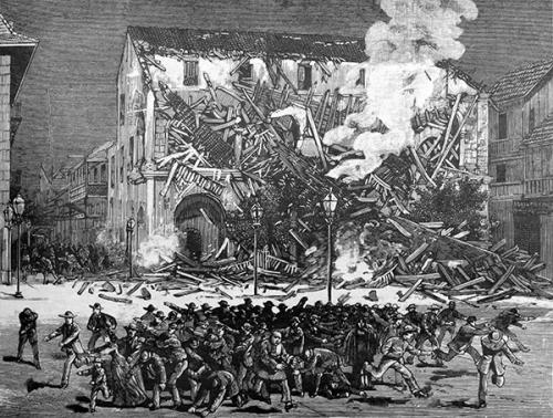 grabado terremoto 7 septiembre 1882