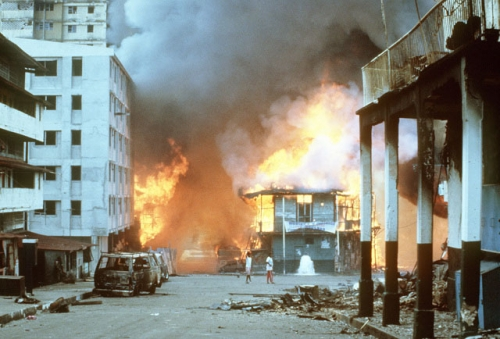 operacion causa justa 5 - incendio chorrillo 20 diciembre
