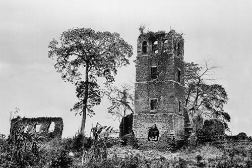 panama viejo - Catedral panama vieja decada 1910