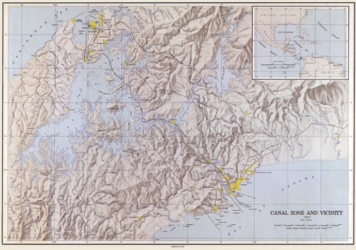 zona del canal mapa 1947